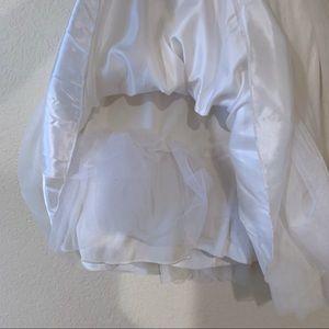 B Darlin Dresses - B. Darlin gold and white homecoming dress